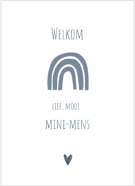 Kaart - GEBOORTE / WELKOM MINI-MENS