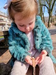 NAAM TAG KETTING KIND | Ketting met leren naamlabel meisje