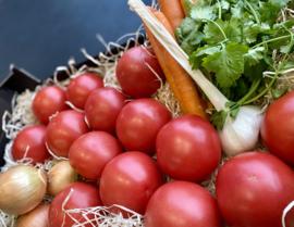 Zuiderse soep van geroosterde  top tomaten + recept !!