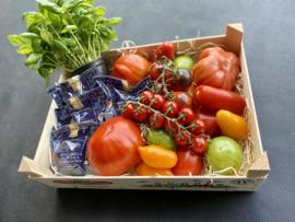 Top tomaten met buffelmozzarella en basilicum voor 4 personen !!!