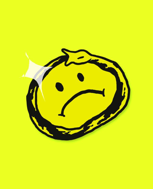 Sad Snake Pin