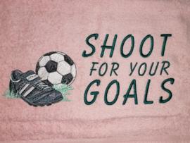 Handdoek - Shoot for your Goals