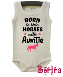 Born to ride horses with Auntie