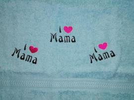 Handdoek - I Love Mama