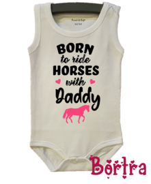 Born to ride horses with Daddy