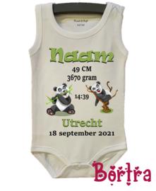 Geboorte Romper Panda