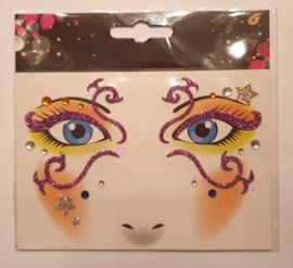 gezicht stickers Krul