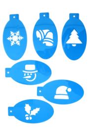 PXP sjablonenset 6 stuks kerst