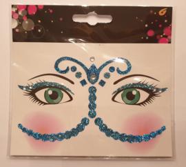 gezicht sticker blauwe prinses