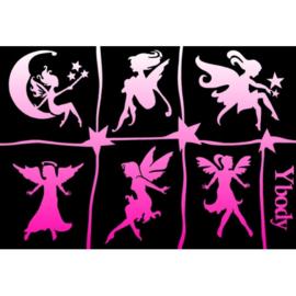 Ybody A5 stencil Fairies