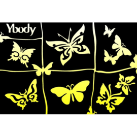 Ybody A5 stencil Butterflies