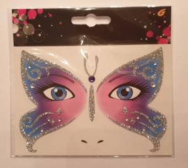 gezicht sticker vlinder
