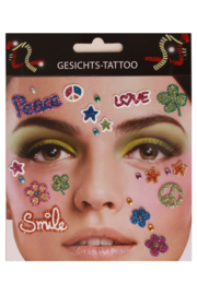 gezichts stickers Flower Power