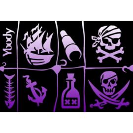 Ybody A5 stencil Pirates