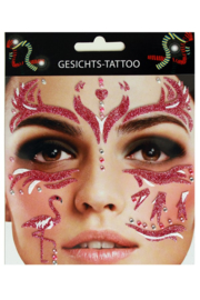 gezicht stickers Flamingo