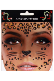 Gezicht stickers Luipaard