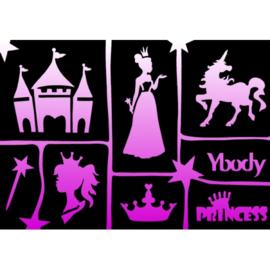 Ybody A5 stencil Princess