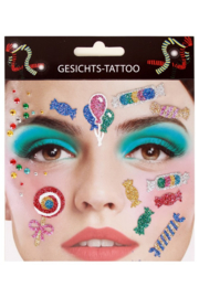 gezicht stickers Candy