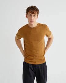 Thinking Mu basic Caramel Hemp T-shirt