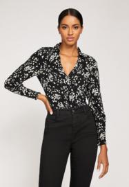 Kookai Andrea blouse zwart/wit bloem