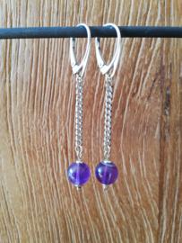 Marleen Roozen Oorbellen Purple love