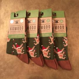 Komodo Kerstsokken groen