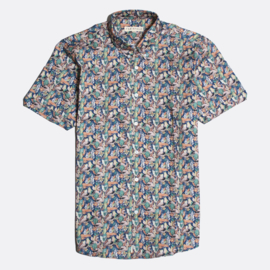 Far Afield Shirt Mod Button Down Flamingo