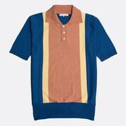 Far Afield polo Trio Monablue/Jojoba/Toasted