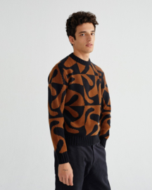 Thinking Mu Zabawa Brown Kehm Sweater