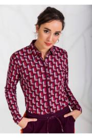 4FF blouse Tedra rood