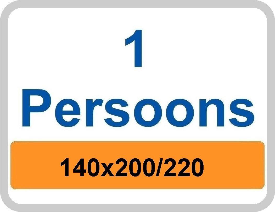 1 Persoons dekbedovertrek 140x200/220