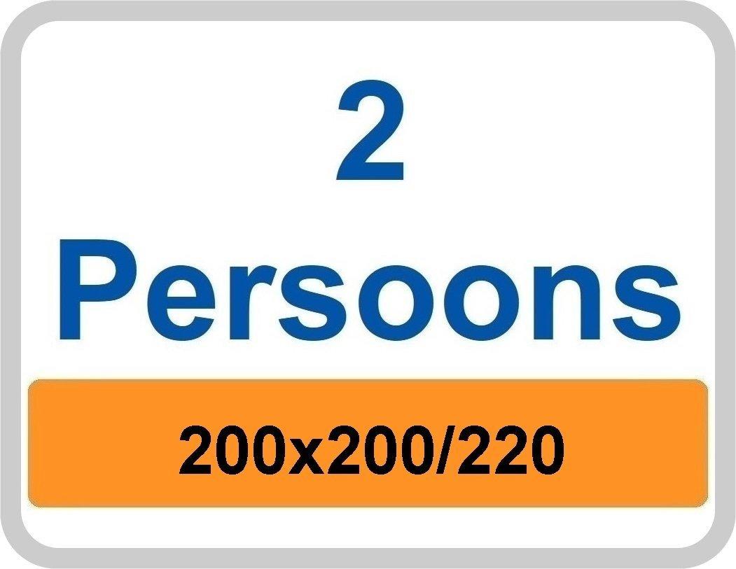 2 Persoons dekbedovertrek 200x200/220