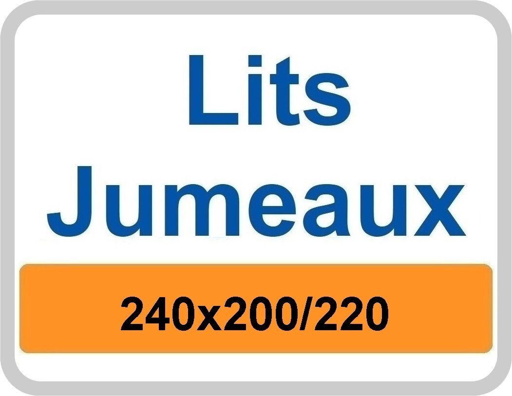 Lits Jumeaux dekbedovertrek 240x200/220