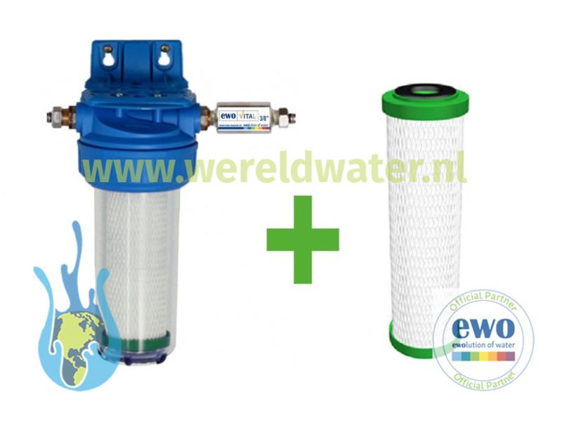 Voordeelpakket: EWO Gourmet systeem + 1 extra EWO Premium Filter Cartridge