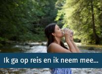 Artikel Ik ga op reis en ik neem mee... - drinkwaterfilters voor op reis - drink gezond en zuiver water - op de camping, in uw vakantiehuis, in de camper