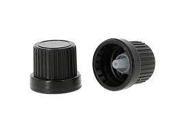 montuur zwart DIN 18 verzegelbaar - met druppelteller