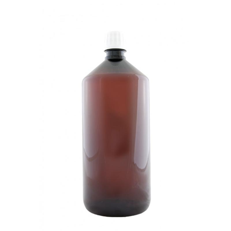 fles pet bruin 1000 ml cap astra