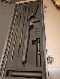 King & More Aluminium Geweerkoffer 3814 met Blaser R8 interieur  Demo