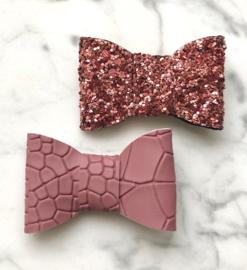 Taupe roze kroko glitz
