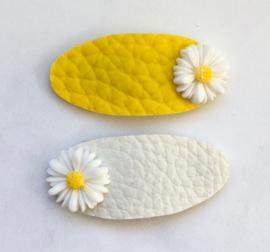 Sweet Daisies geel/wit