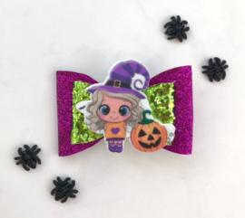 Luxe Halloweenstrik meisje paars