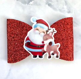 Strik kerstman groot