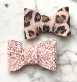 Blush glitz leopard