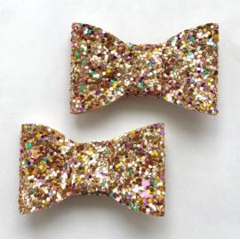 Goud discoglitter set van 2