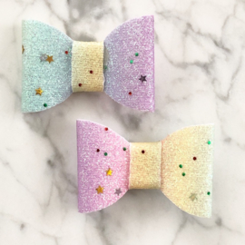 Regenboog glitter set van 2