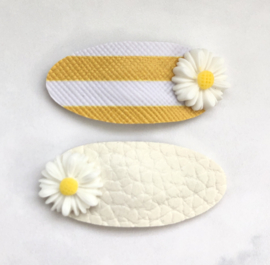Sweet Daisies wit/stripes