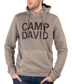 """Camp David olijf sweatshirt met capuchon uit de """"Sport"""" collectie"""