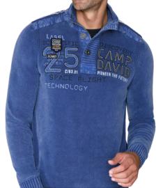 """Camp David blauwe pullover uit de """"Space Flight"""" collectie"""
