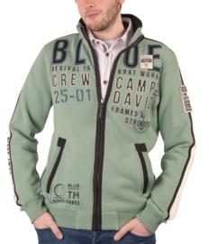 """Camp David groen sweatvest uit de """"Boat Building"""" collectie"""