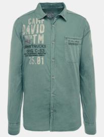 """Camp David rood overhemd met lange mouw uit de """"Ice Road Truckers"""" collectie"""